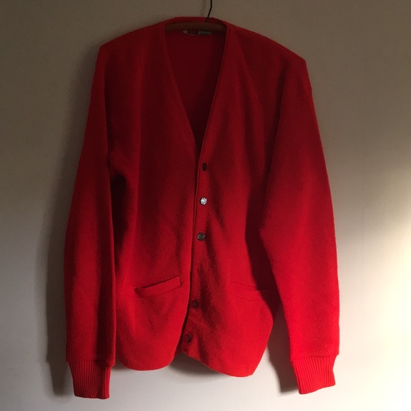 Vintage Sweaters Mr Rogers Red Cardigan Sweater Nirvana L Poshmark